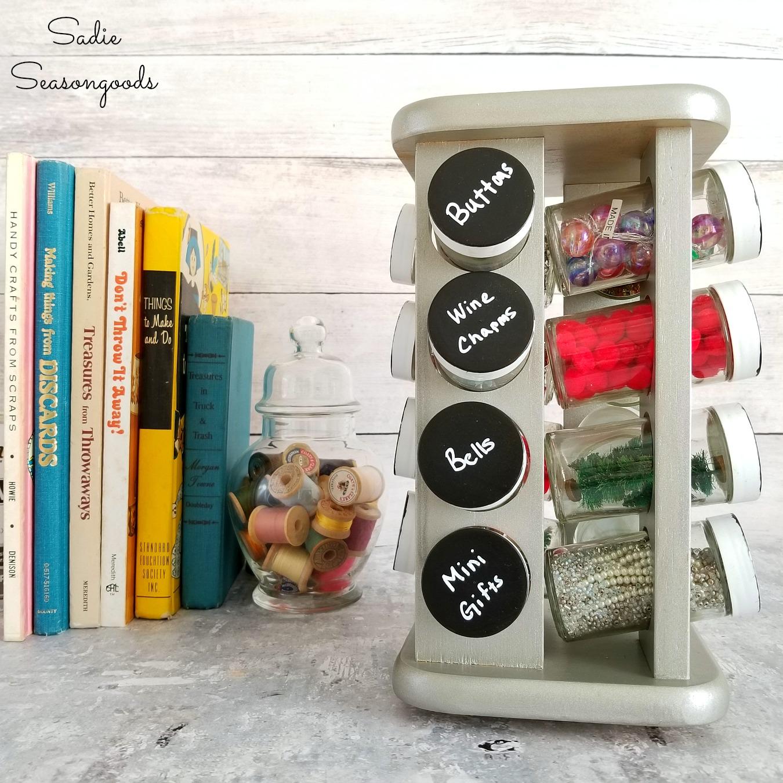 Spice Rack Idea for Craft Storage / Craft Organizer