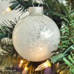 Creating a Snow Ornament from Upcycled Clear Ornaments