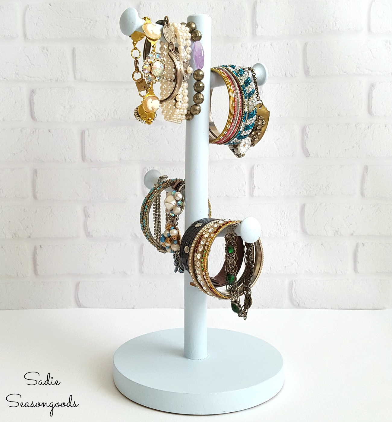 Jewelry Organization – Coffee Cup Holder to Bracelet Holder