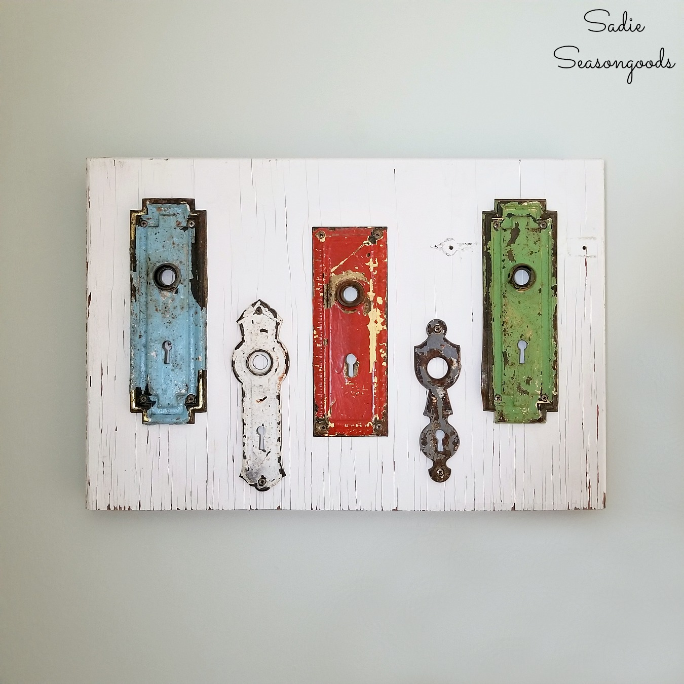 Unique Wall Decor with Antique Hardware and Architectural Salvage