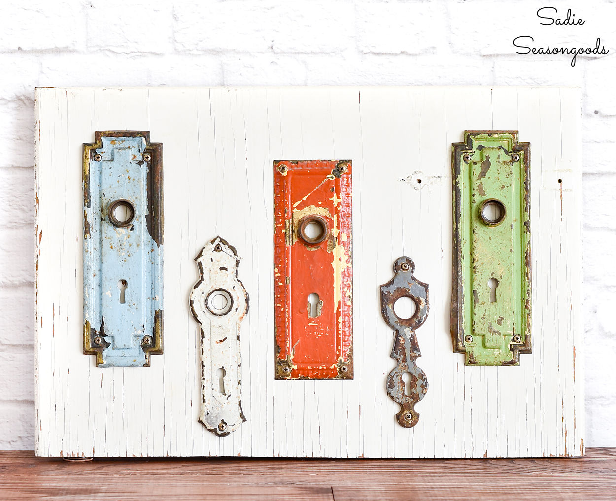 keyhole covers as quirky art