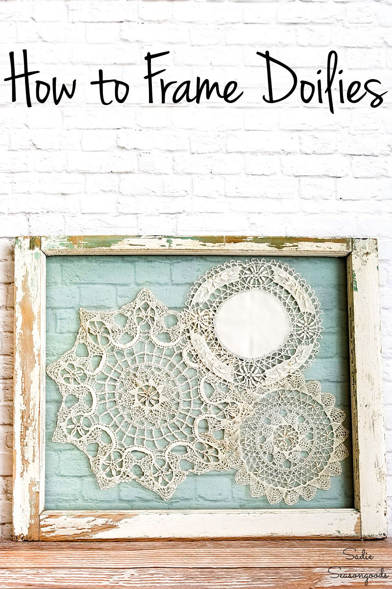 Shabby chic wall decor with an old window frame