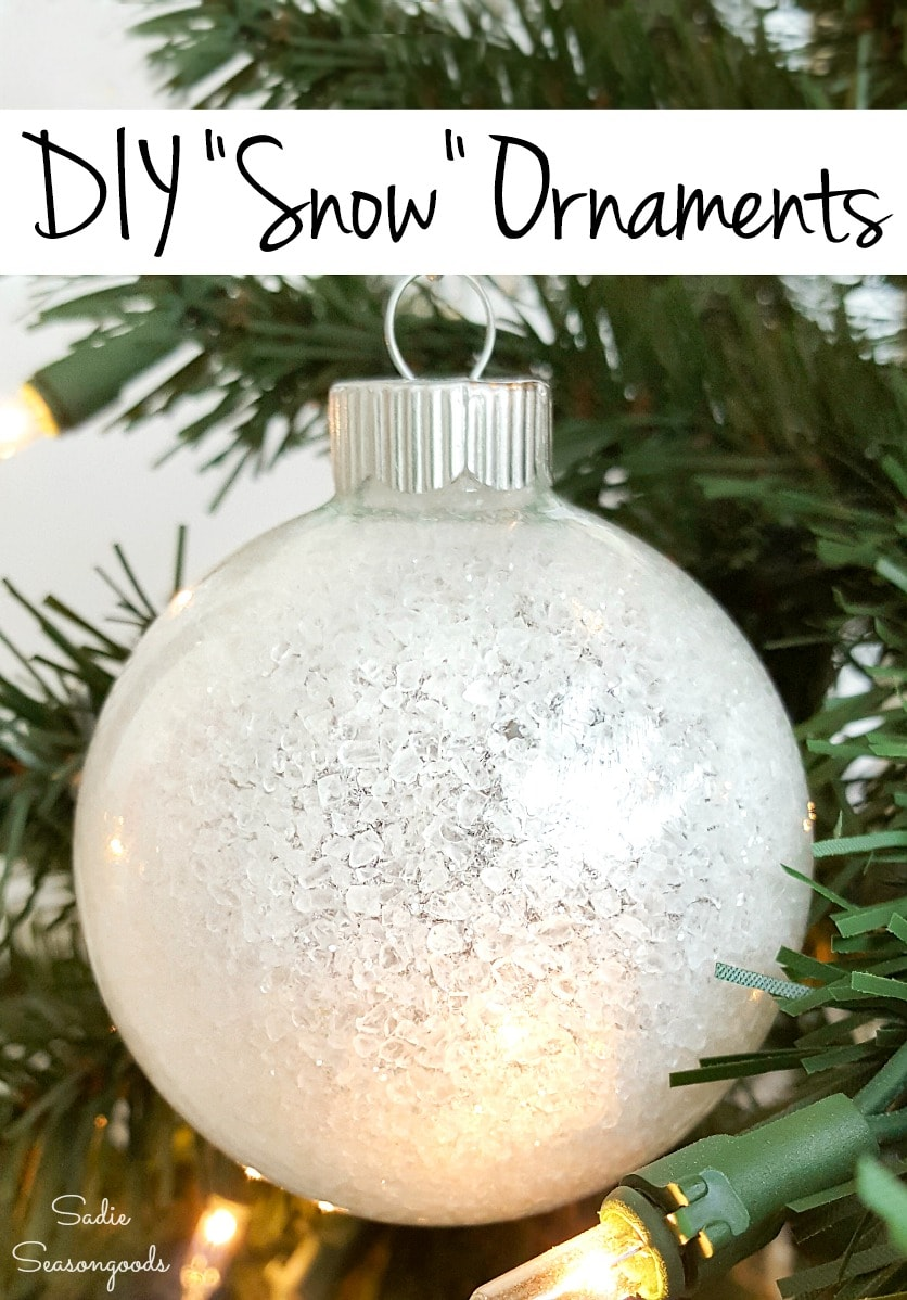 Snowball ornaments for the Christmas tree