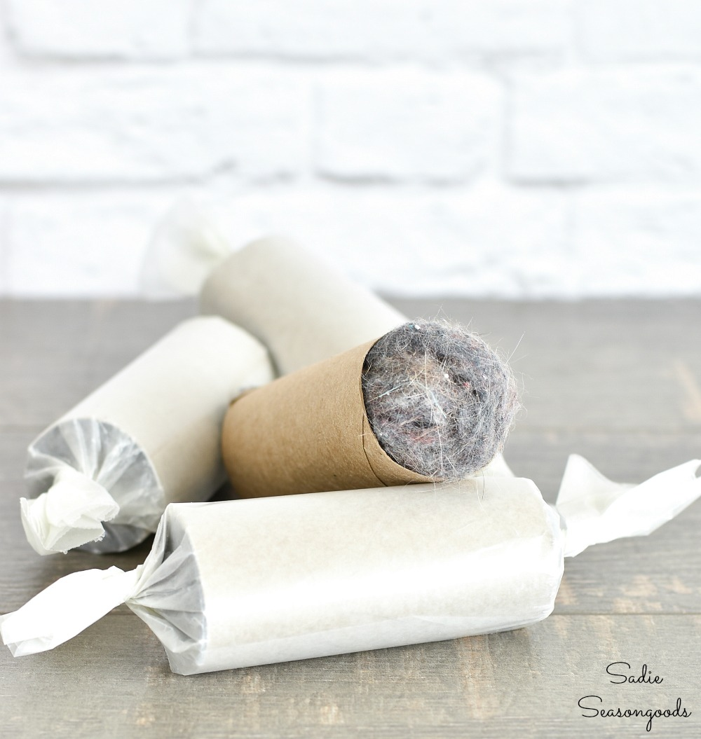 DIY fire starter or homemade firelighters with dryer lint