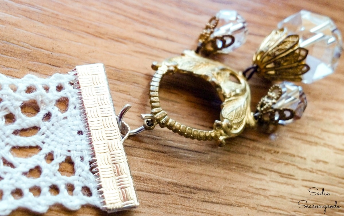 Repurposing old jewelry as DIY bookmarks
