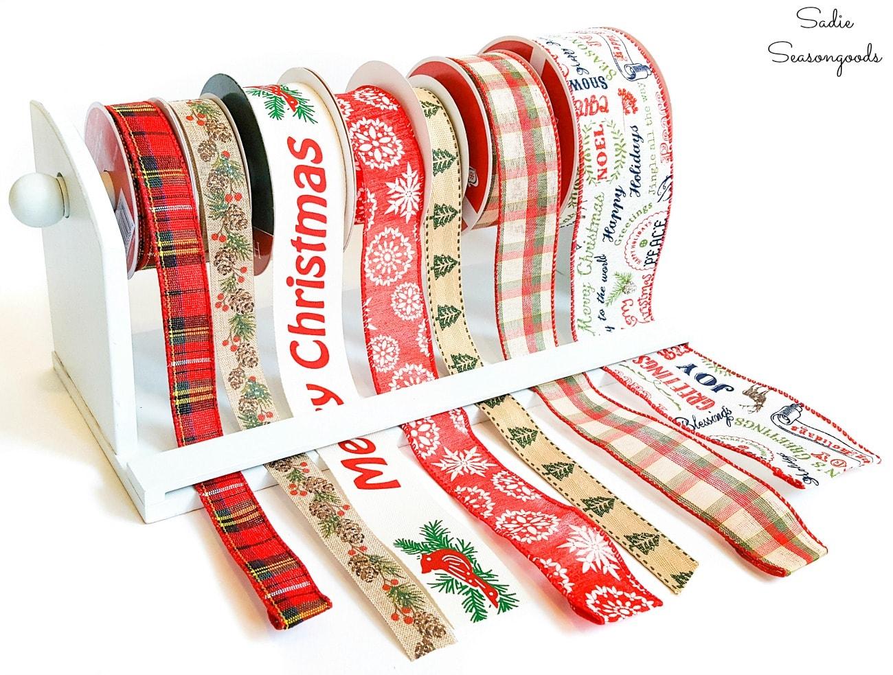Craft ribbon storage or ribbon spool holder
