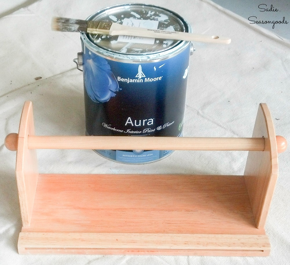 Painting a hanging paper towel holder