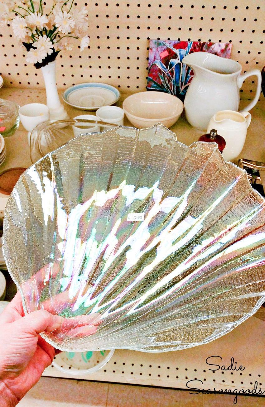 iridescent shell platter
