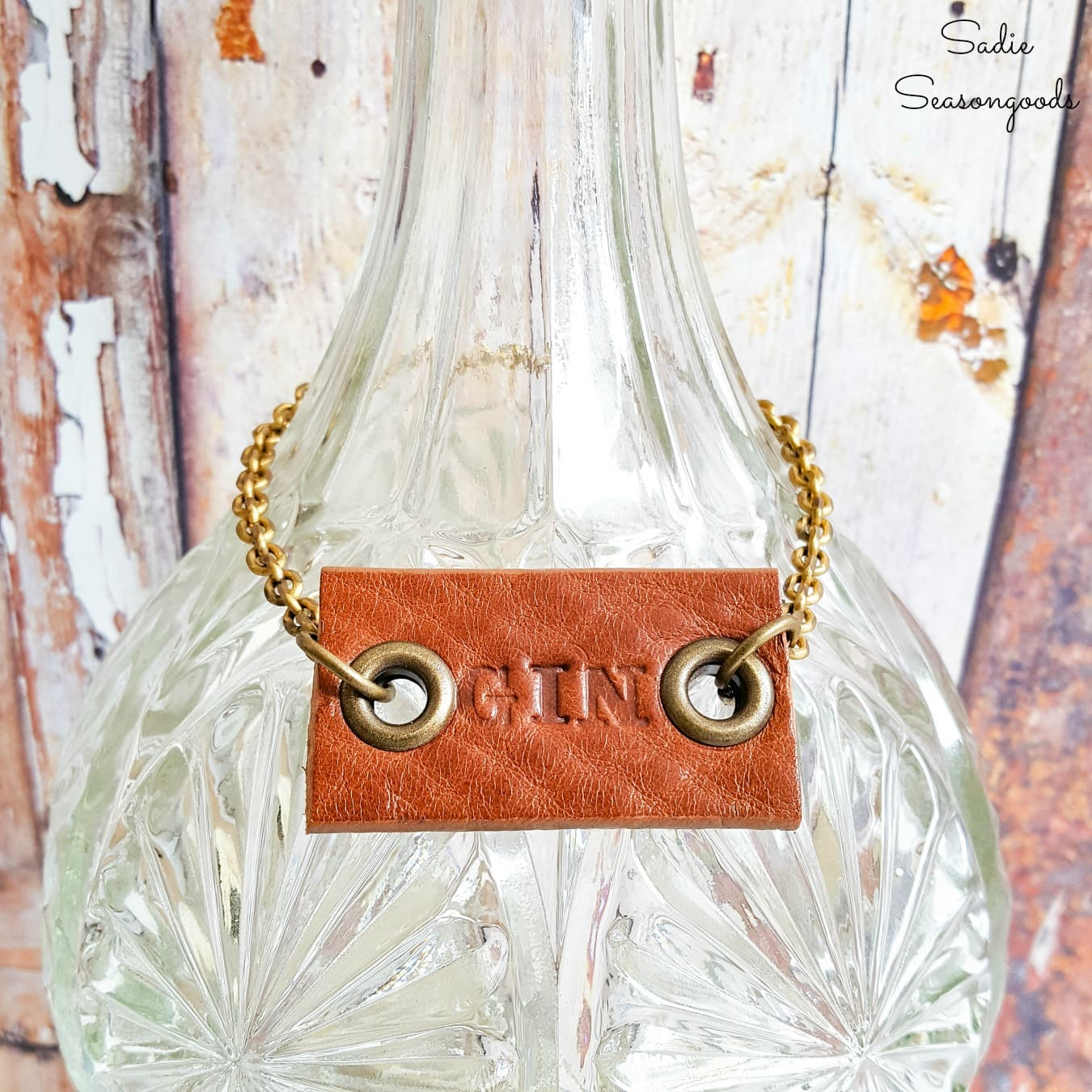 How to Make Decanter Labels from a Leather Belt