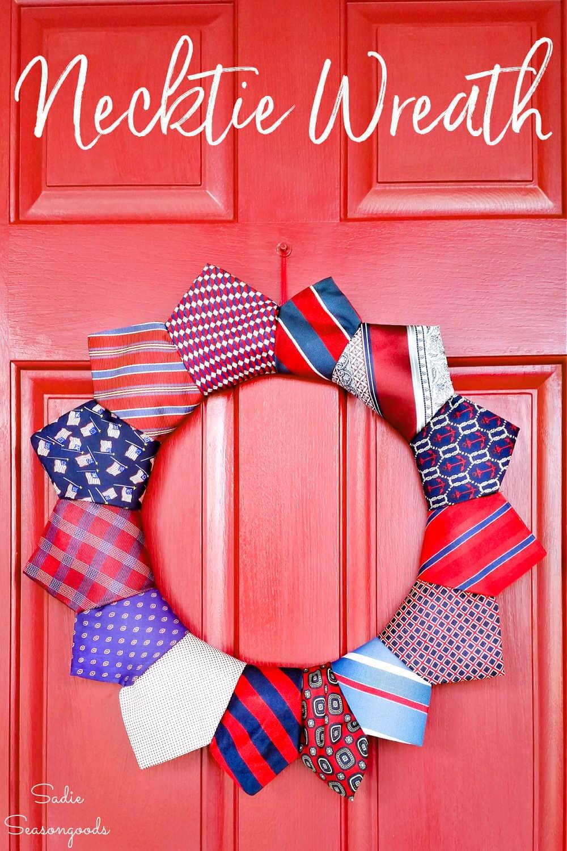 necktie crafts with a wreath form