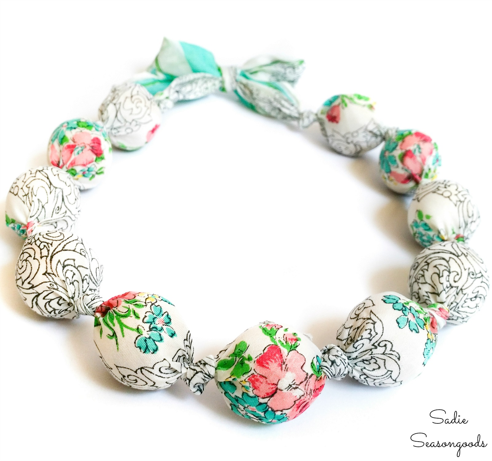 Make Your Own Necklace with Scarf Material