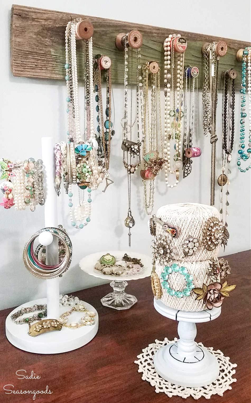 bracelet storage and diy necklace display
