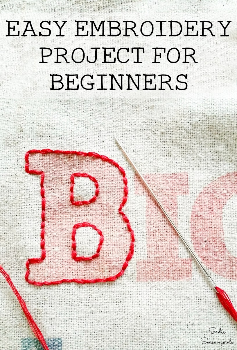 Simple hand embroidery for beginners