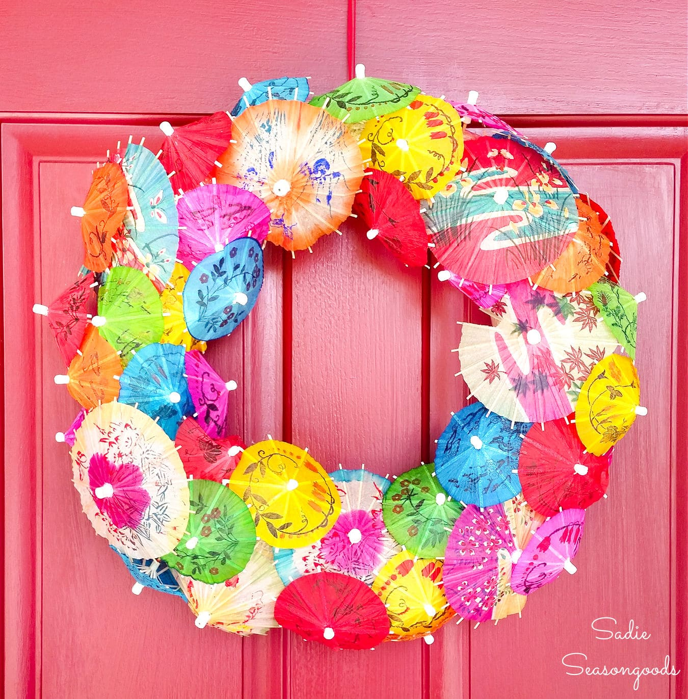 Umbrella Wreath for Cinco de Mayo Decor