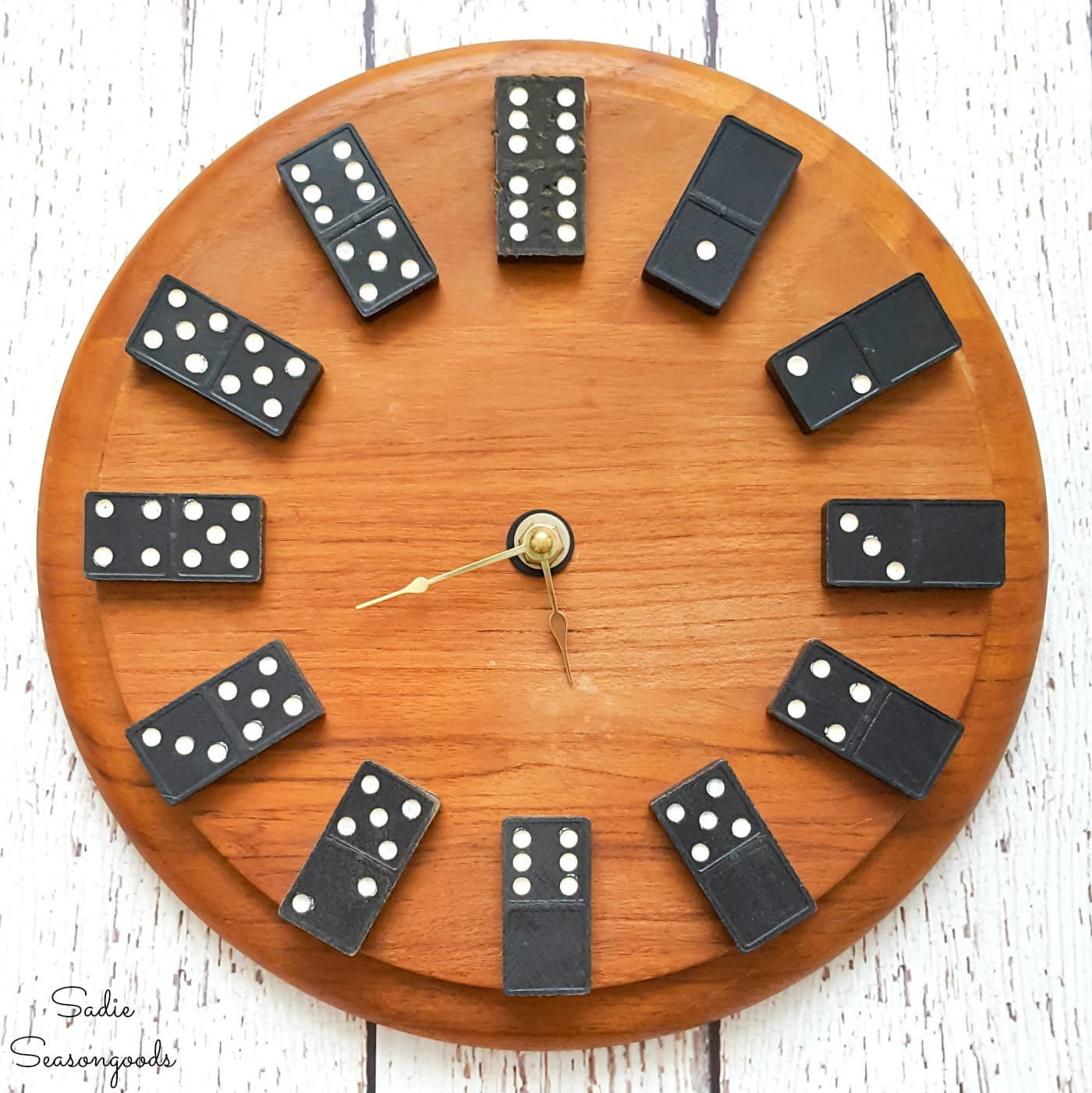 Domino Clock as Playroom Wall Decor
