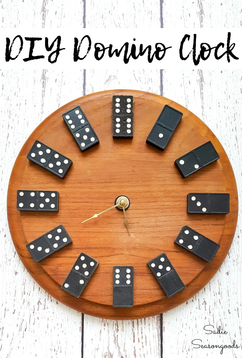Playroom wall decor with a domino clock