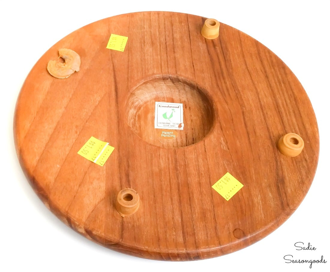 Round cheese board for upcycling project