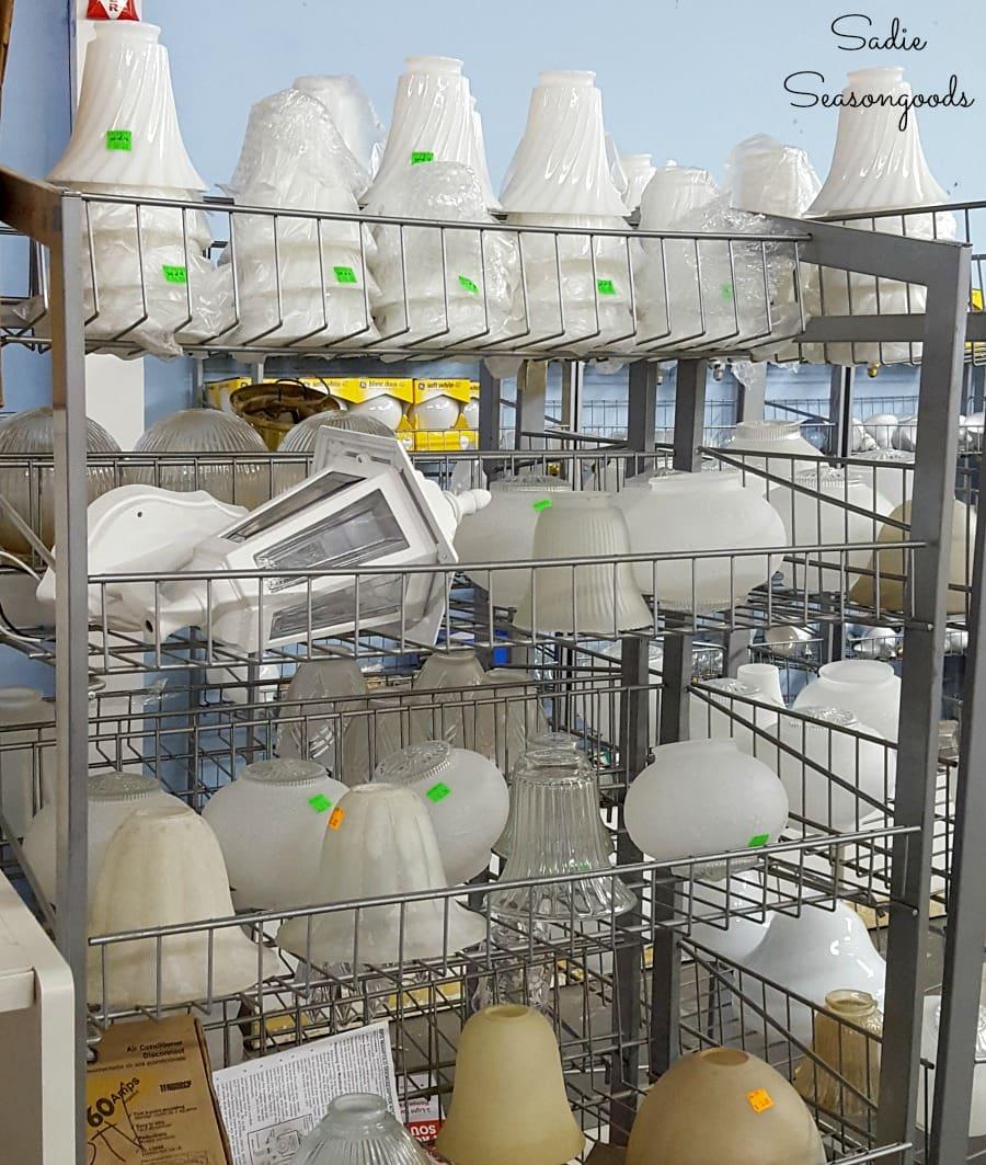 glass light covers at habitat restore