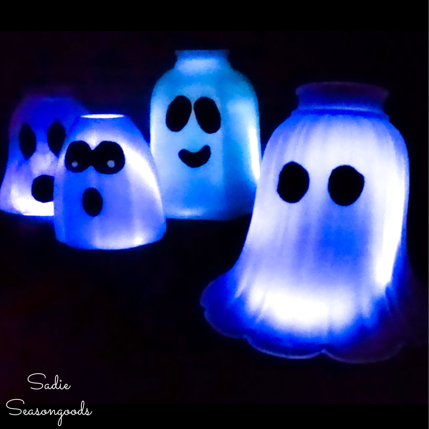 Halloween Ghost Lights from Glass Light Covers