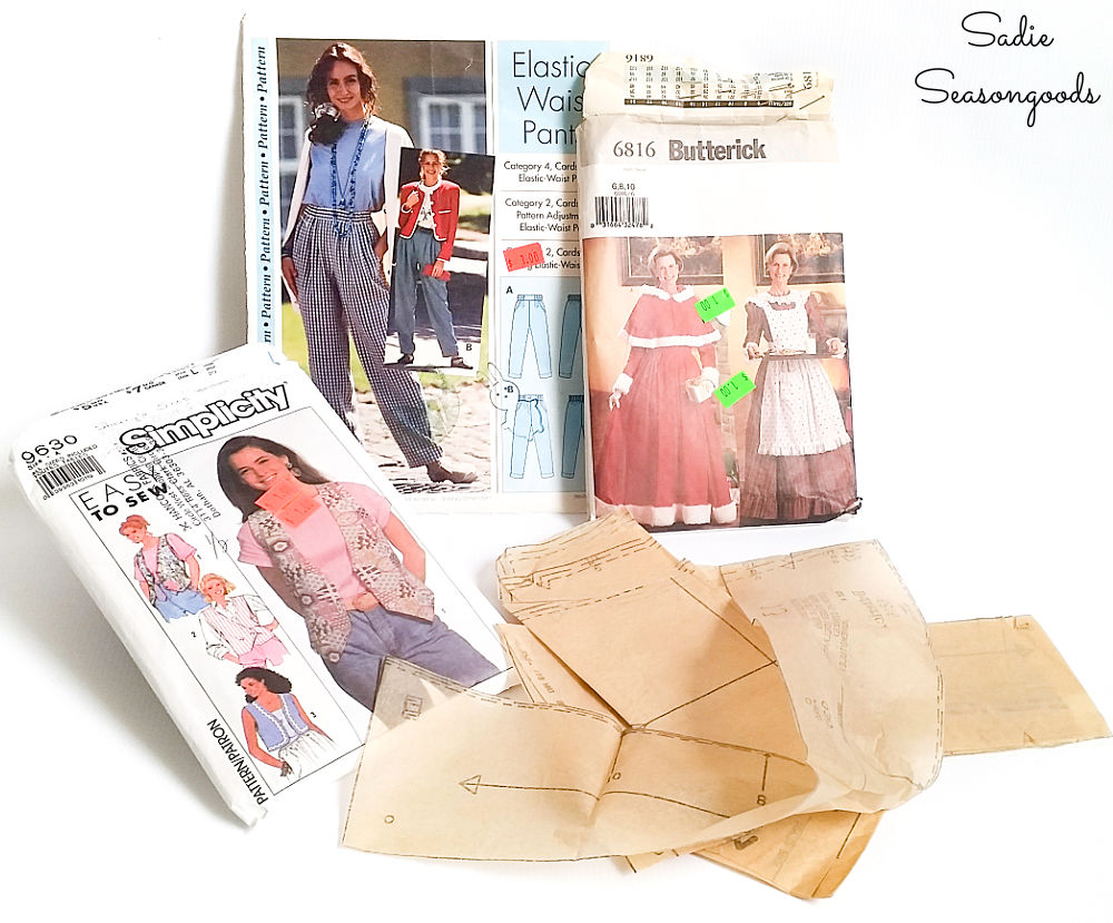 Sewing pattern paper from the thrift store