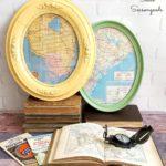 Round Trip: Oval-Framed Vintage Road Maps