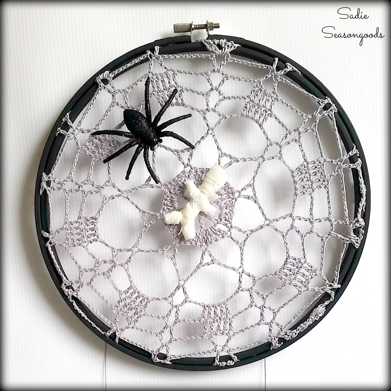 Spiderweb Decor or Halloween Spider Web from Lace Doilies