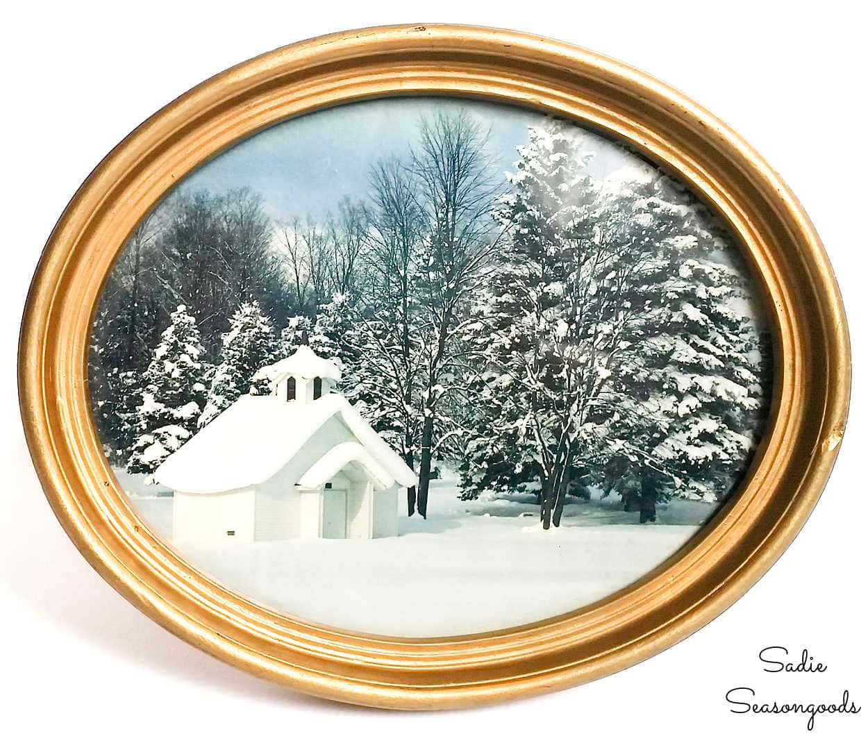 antique oval picture frame