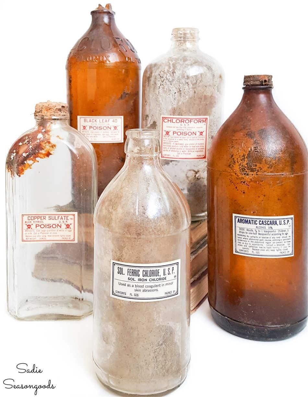 antique poison bottles for halloween