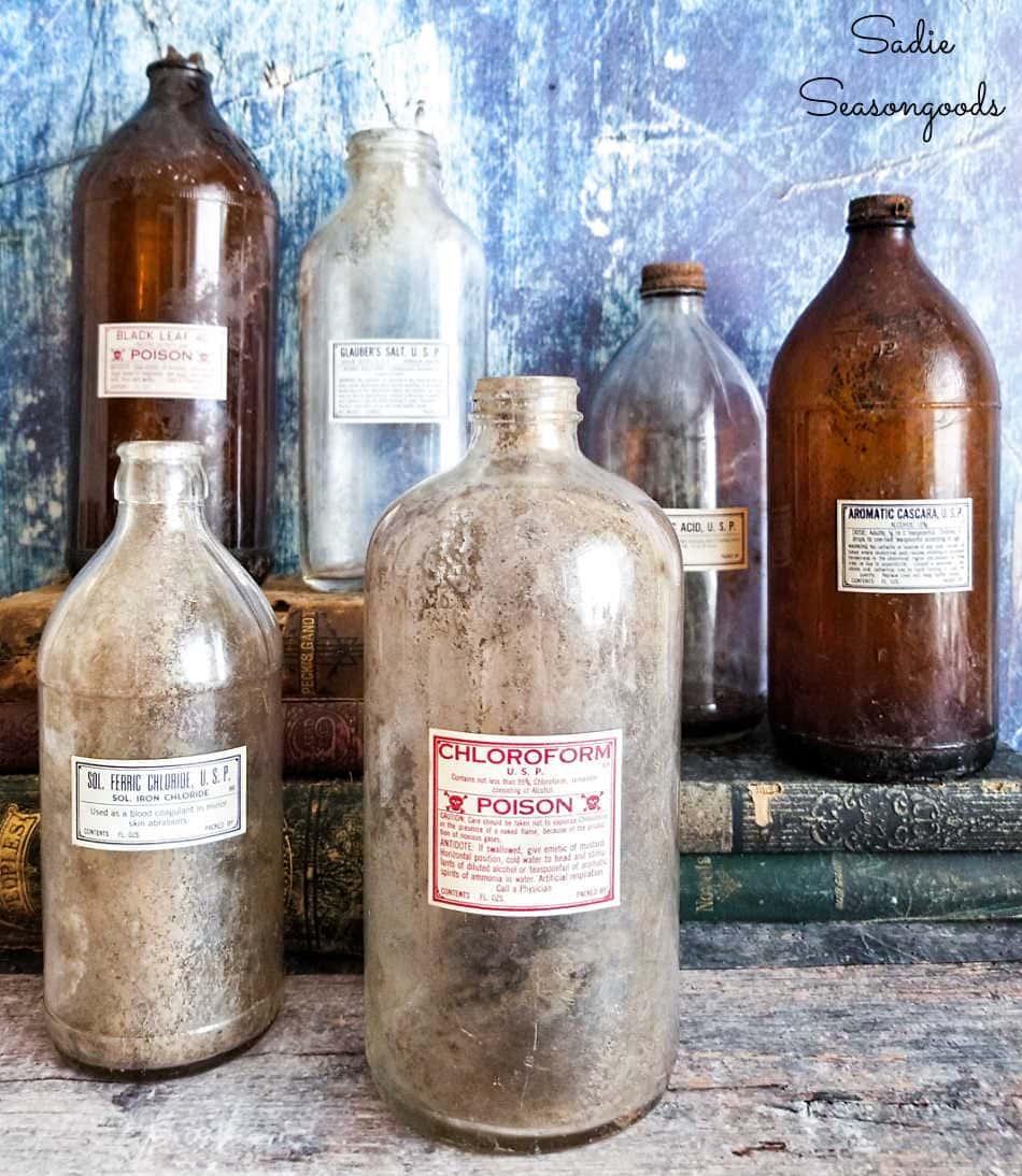 antique poison bottles