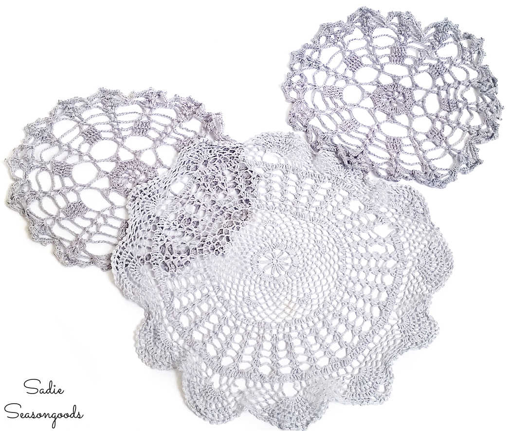 doilies that look like spider webs