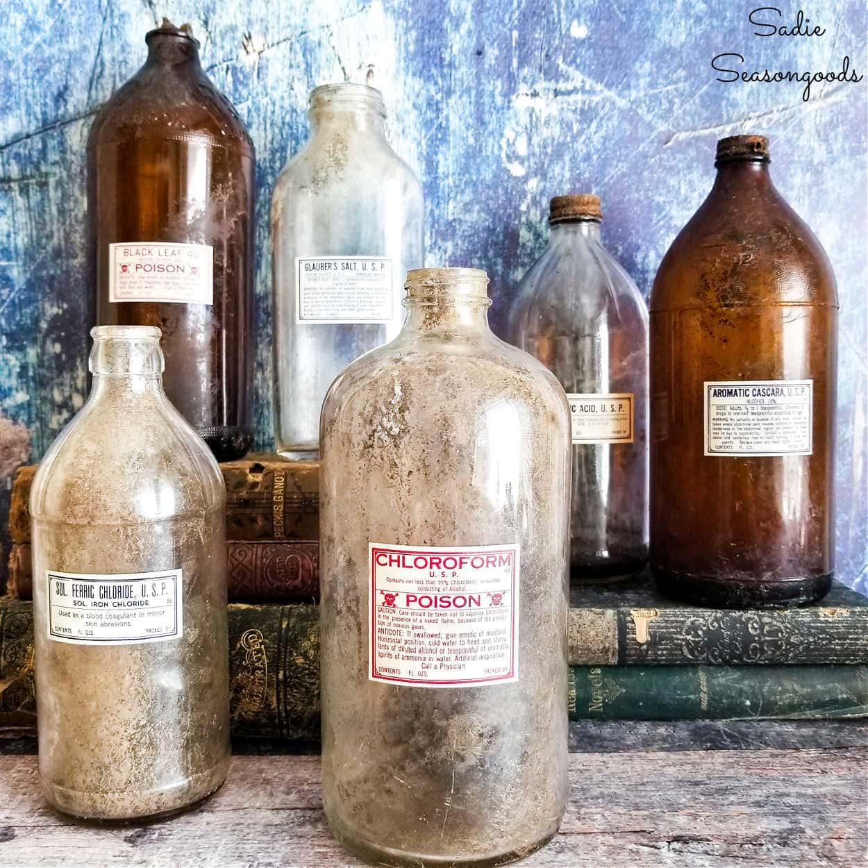 Halloween Poison Bottles