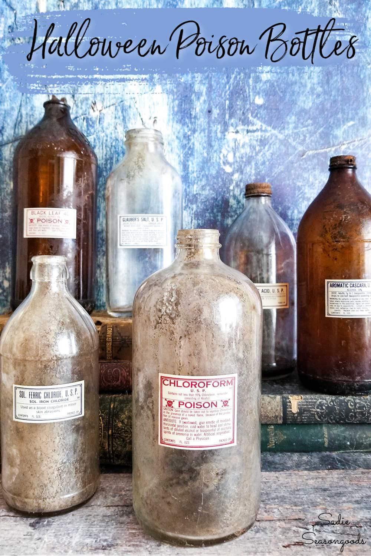poison bottle label for halloween poison bottles