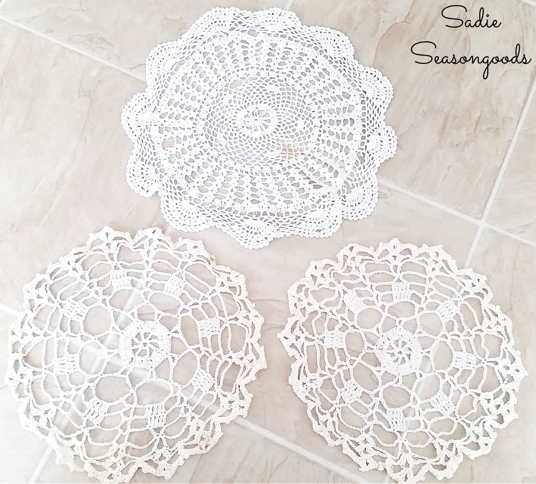 vintage doilies to be dyed