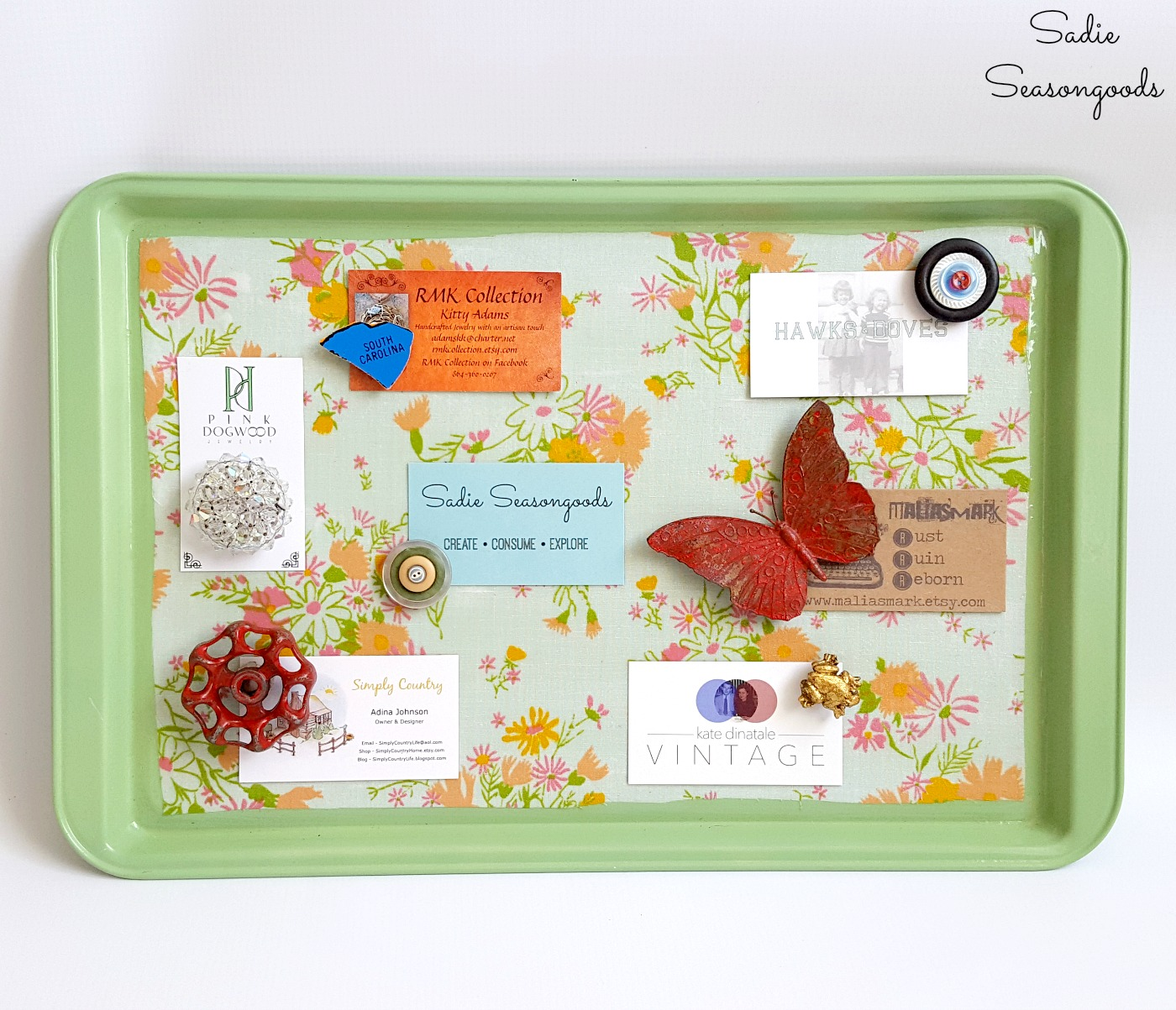 Kitchen Memo Board and Magnetic Memo Board with a Cookie Sheet