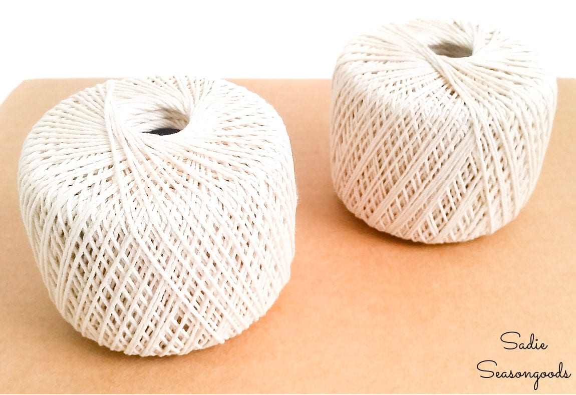 balls of twine for a pin holder display