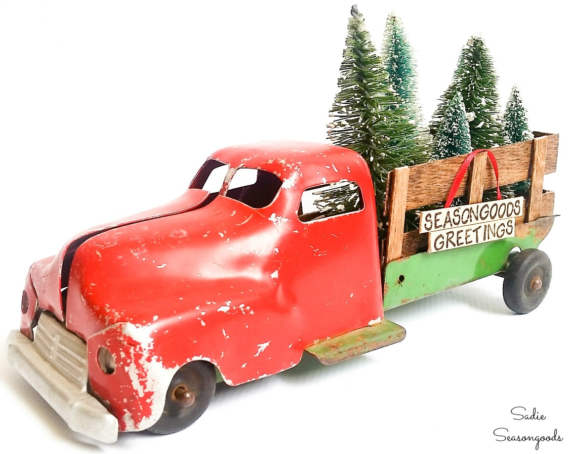 Christmas truck decor