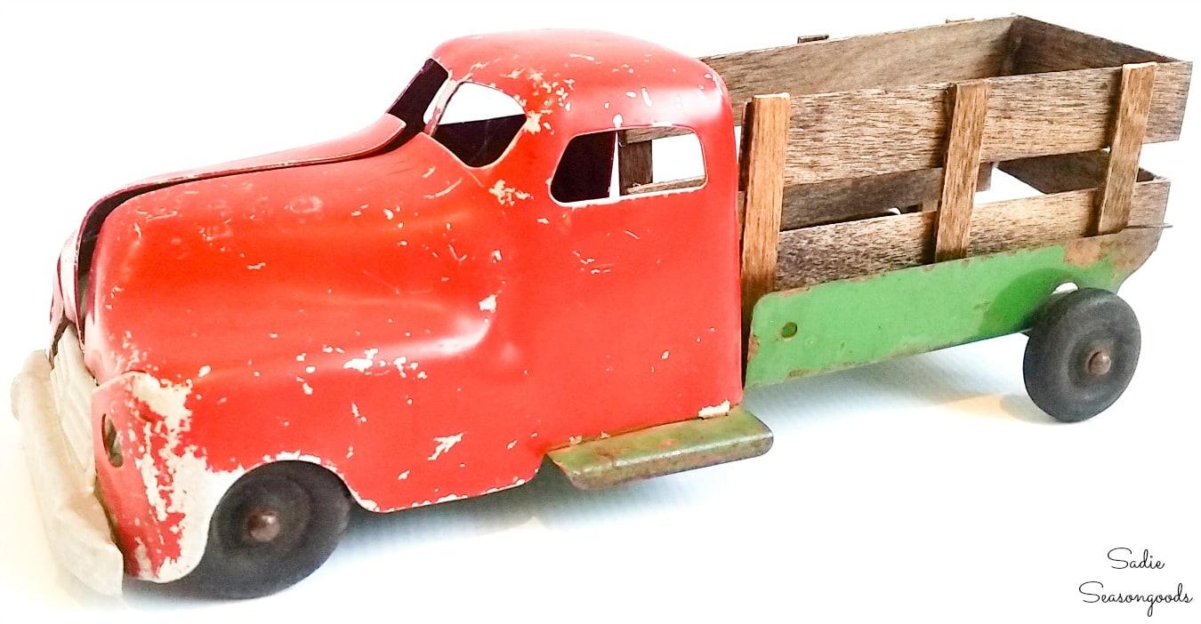 Little red truck decor
