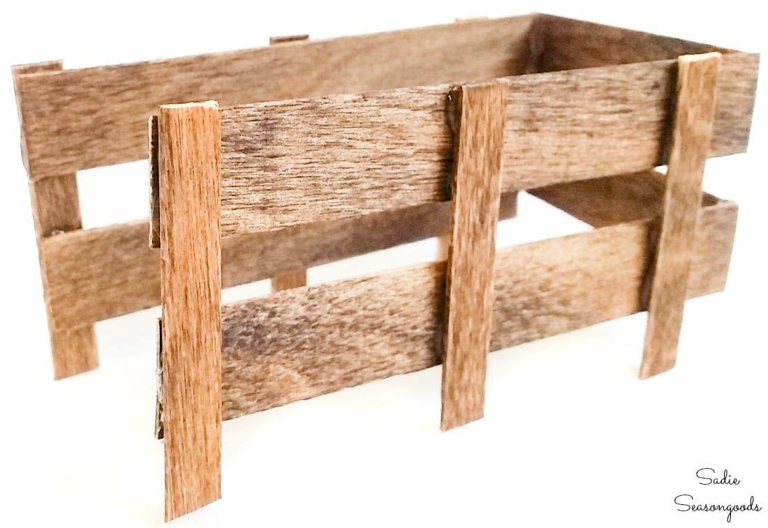 Truck side rails from popsicle sticks