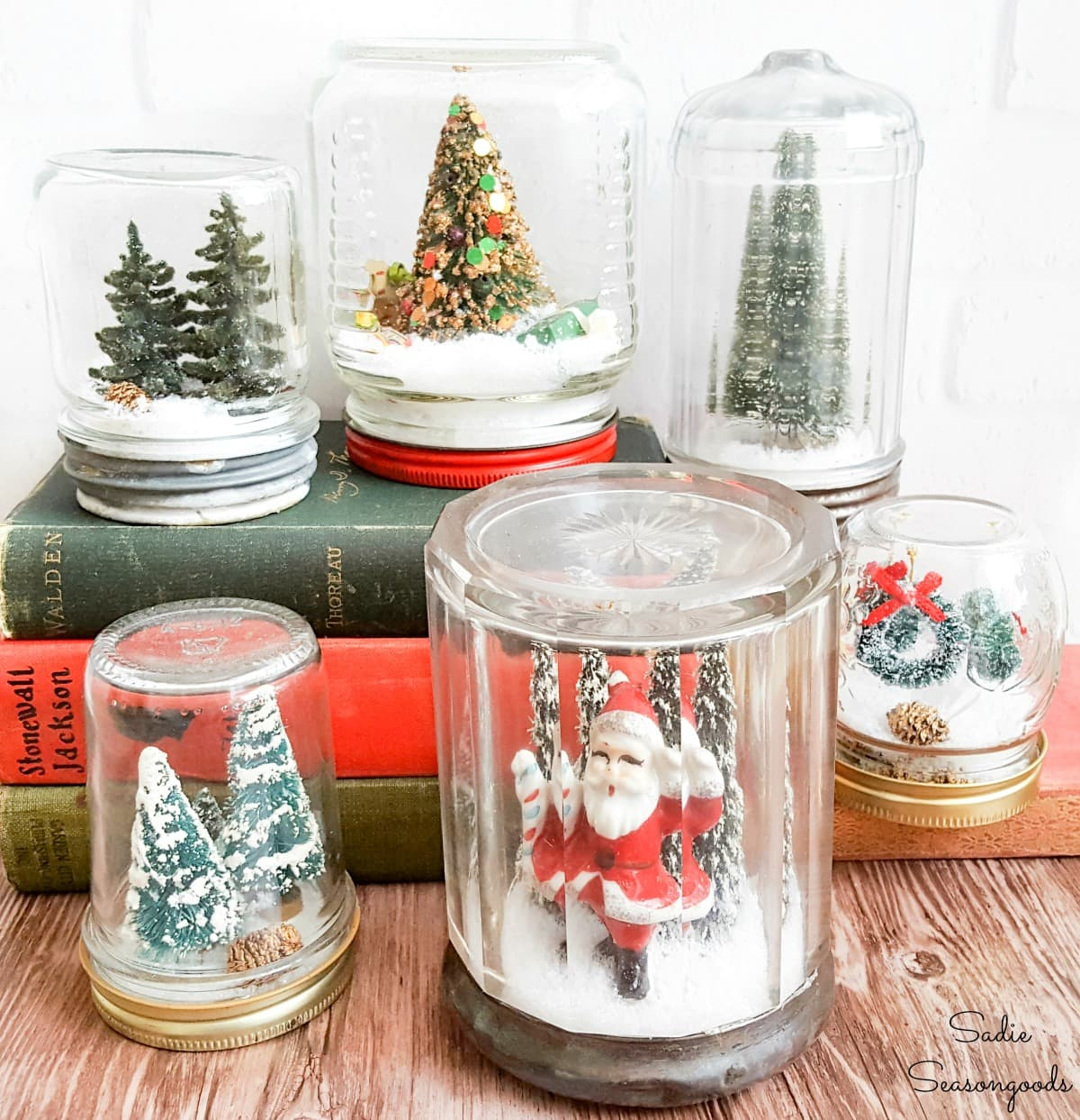 Vintage Christmas snow globes