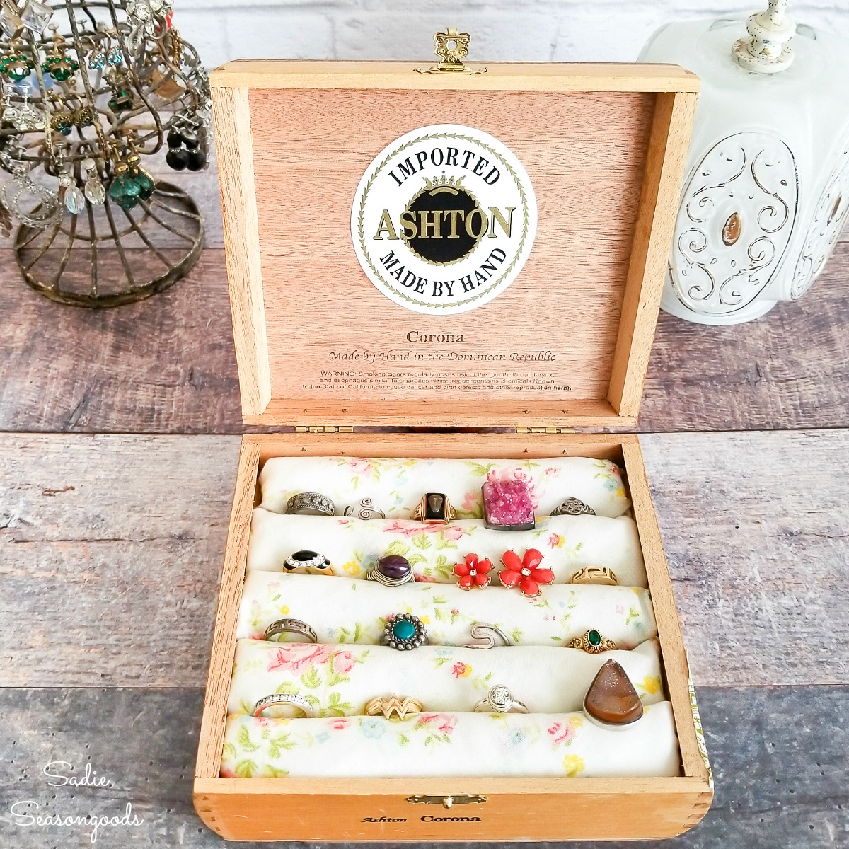 Upcycling a Vintage Cigar Box into a DIY Ring Holder