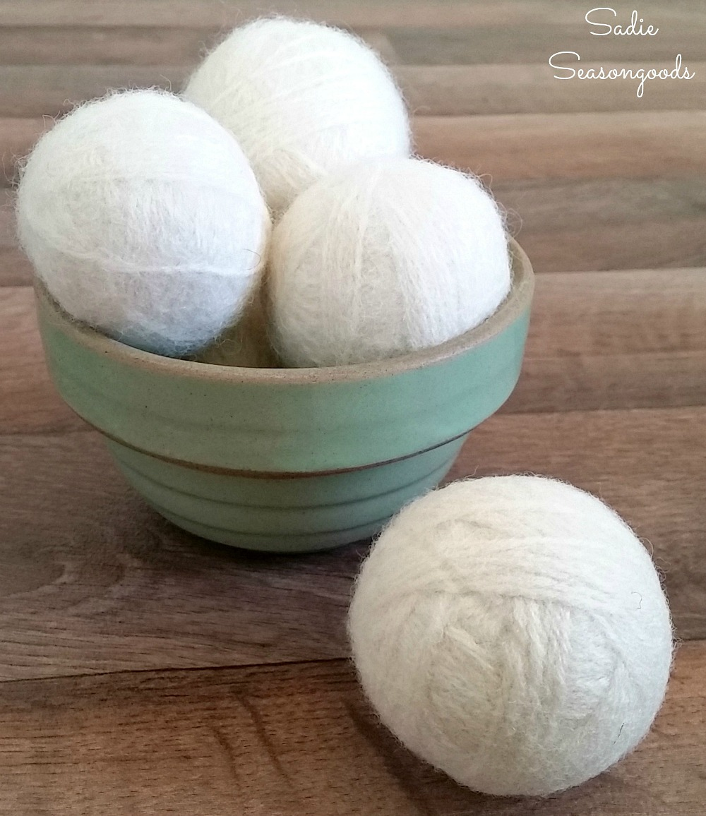 Dryer Balls or tumble dryer balls are a natural fabric softener for sustainable homes and building a Green Life by Sadie Seasongoods