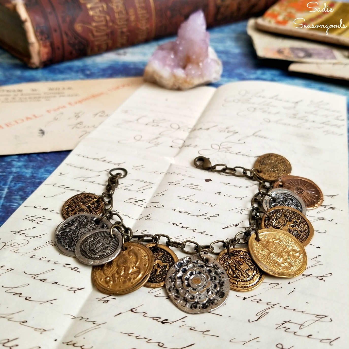 Making Coin Jewelry / Boho Jewelry from Metal Buttons