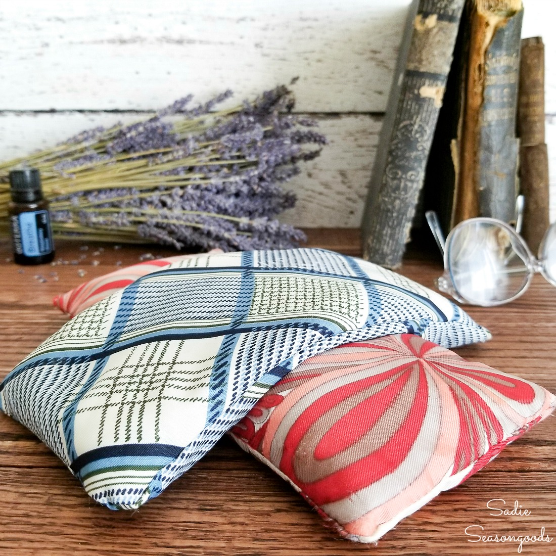 Upcycling a Vintage Scarf as a Lavender Eye Pillow for Self Care