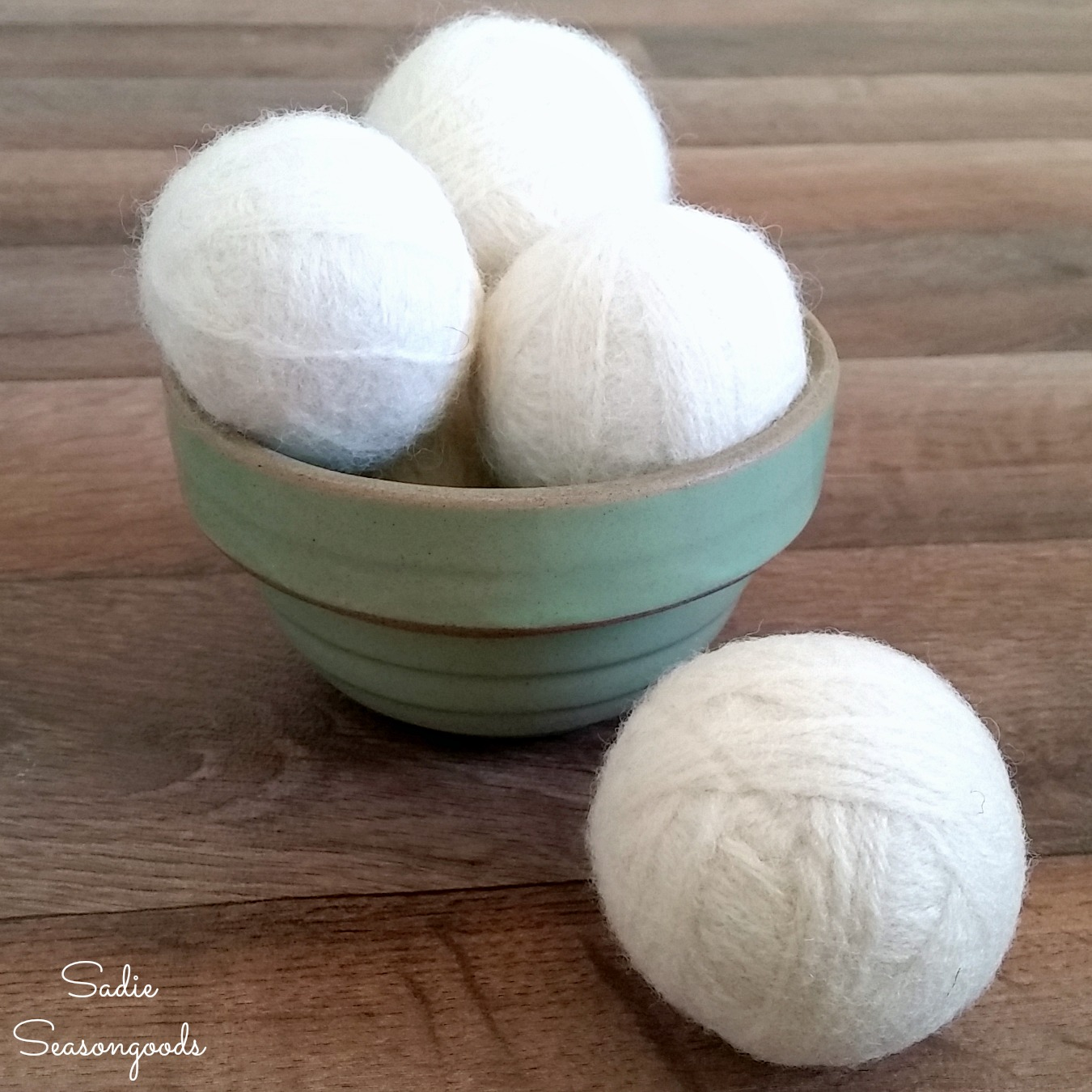 Tumble Dryer Balls from Wool Yarn as a Natural Fabric Softener