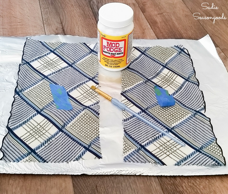 Upcycling a vintage scarf to create the stress relief products