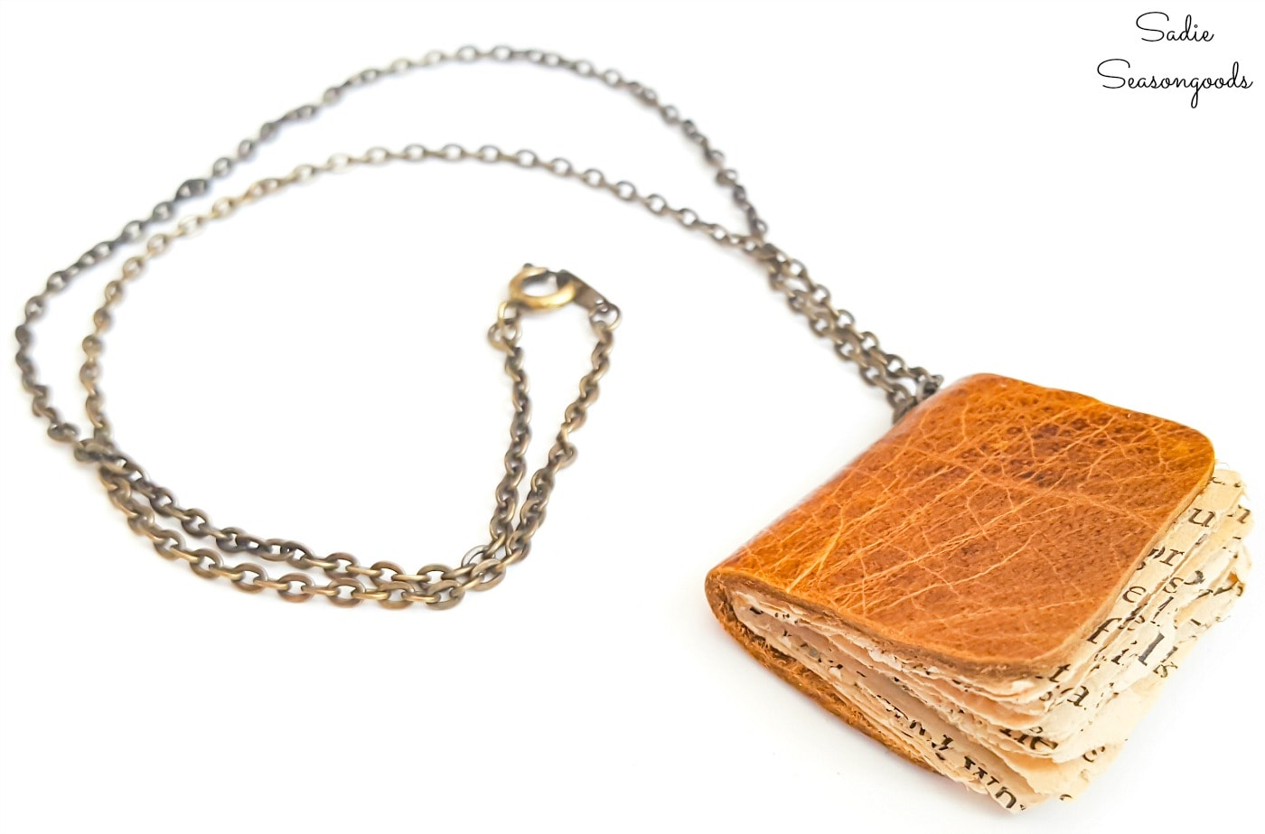 Book necklace as a gift for a reader