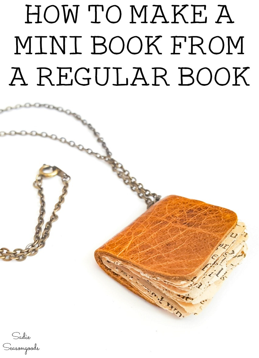 Crafting with old books to make book jewelry