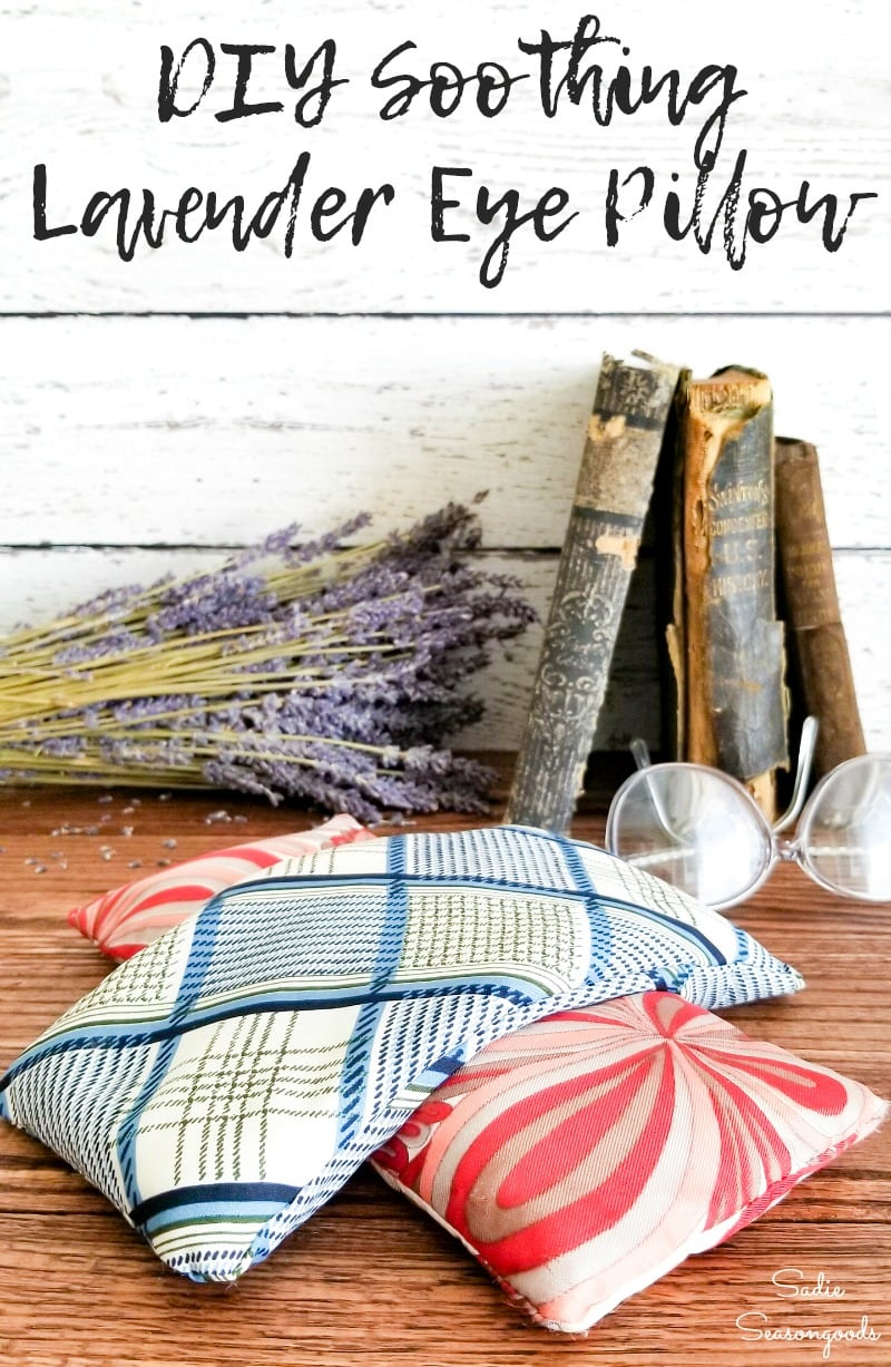Lavender eye pillow for stress management at home