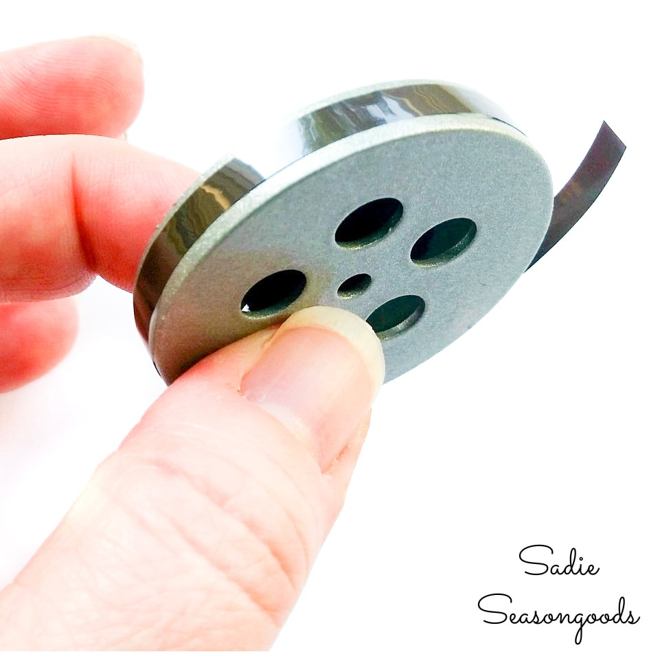 movie reel decor from spice shakers