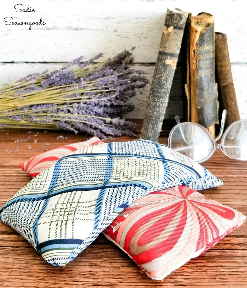Self care with a lavender eye pillow